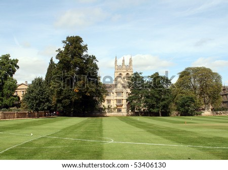 Playing field. Merton College, Oxford