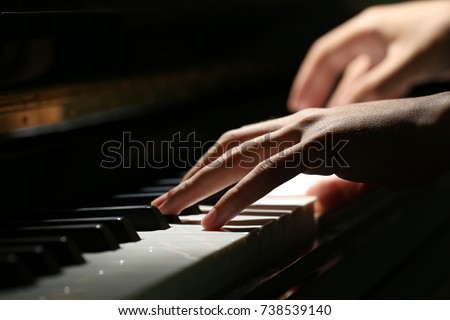 Playing Piano Close-up Shot - Shutterstock ID 738539140