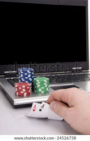 playing poker at home with the online game