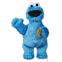Playskool Friends Sesame Street Feed Me Cookie Monster toy isolated with white background