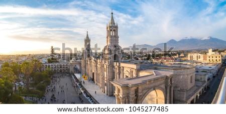 Plaza de Armas Arequipa, Peru. South America.