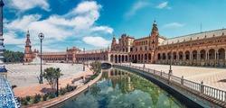 Plaza de España in Seville, Andalusia, Spain