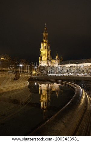Plaza de Espana night view Stock photo ©