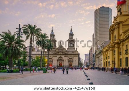 Shutterstock Plaza de las Armas square in Santiago, Chile