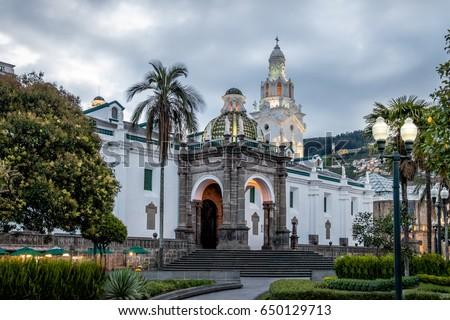 Plaza Grande and Metropolitan Cathedral - Quito, Ecuador #650129713