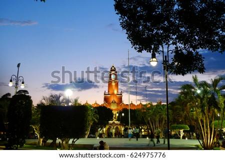 Plaza Grande at Merida, Mexico #624975776