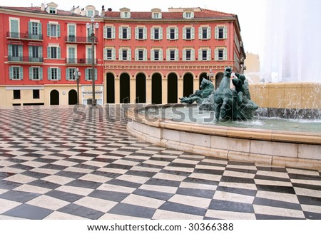 plaza Massena Square in the city of Nice, France