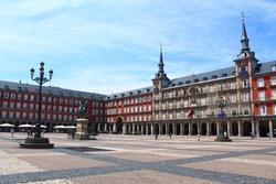 Plaza Mayor Madrid Spain popular tourist travel destination in Europe