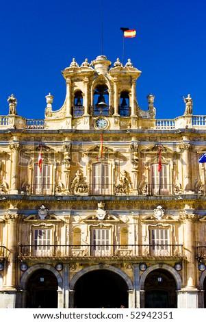 Plaza Mayor (Main Square), Salamanca, Castile and Leon, Spain - stock photo