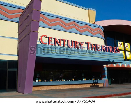 PLEASANT HILL, APRIL 10: Century Theatres are a chain of movie theaters which operate in the western United States. In 2006 it was acquired by Cinemark Theaters. April 10, 2011, Pleasant Hill, CA.