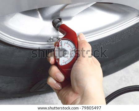 Please check your air tyre pressure by tyre pressure gauge before your long distance journey