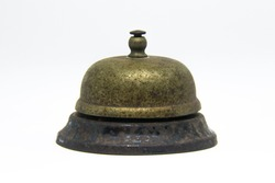 Please Ring For Service!   This bell served us well for almost two decades and is rusted from being used at a boat rental business on Barnegat Bay New Jersey.