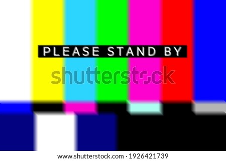 Please Stand By Test Pattern Foto d'archivio ©