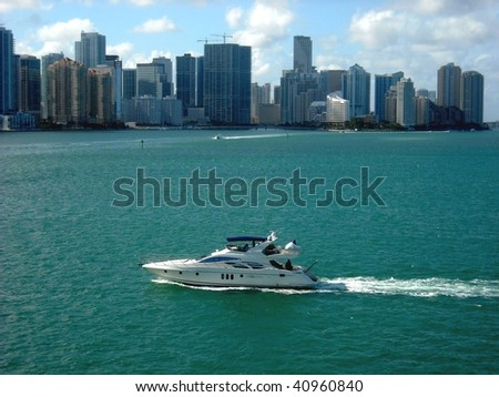 Pleasure boat on Biscayne Bay