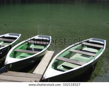 Pleasure boats at lake. Germany