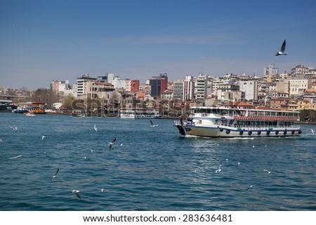 Pleasure craft, Walk on water, Istanbul