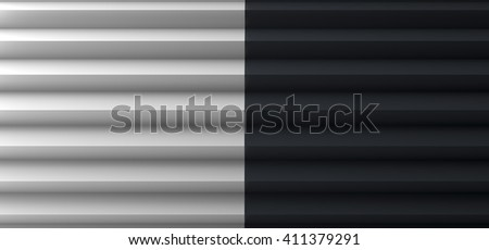 Pleated Black and White Copy Space 3D Illustration ストックフォト ©