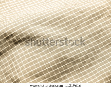 Pleated checkered fabric closeup - series - sepia, ivory, beige. Good for background. More fabrics in my port.