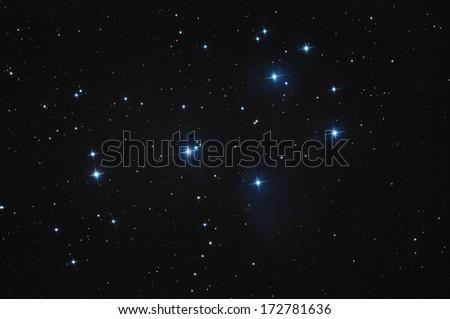 Pleiadi stars open cluster - stock photo
