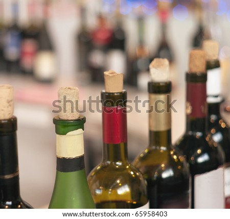 Plenty bottles of alcohol drinks in a row