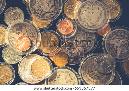 plenty of collectible coins in...