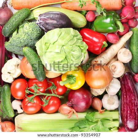 Plenty of vegetables occupy the entire frame.