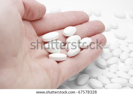 Oval White Pill