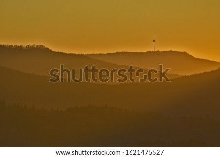 Photo of  Plettenberg with tower in the evening light, swabian alb