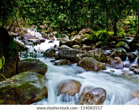 Plew Waterfall,Chanthaburi Province,Thailand