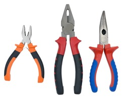 Pliers isolated on the white background