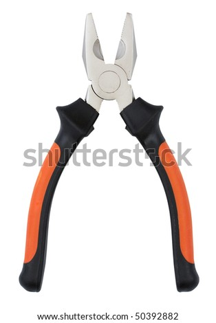 Pliers isolated on white background with clipping path