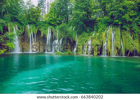 Plitvice lake at Crotia. 2016
