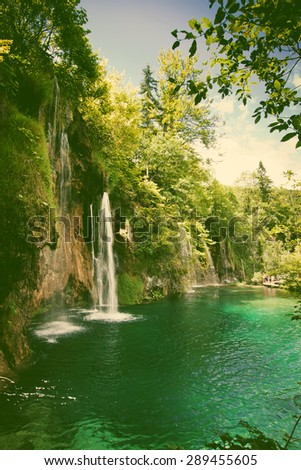 plitvice lakes and waterfalls...