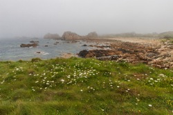 Plougrescant pink granite coast Bretagne park and mountains Coast of Armor