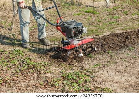 Plowed the garden #624336770