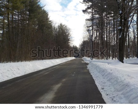 Plowed winder road #1346991779