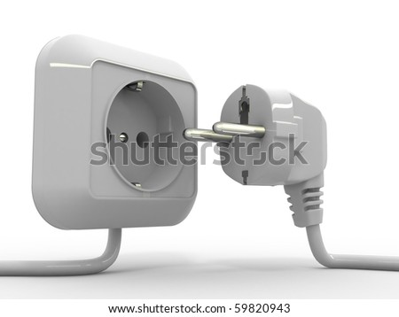 Plug and socket. 3d