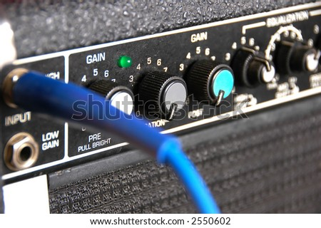 Plugged in the Amplifier