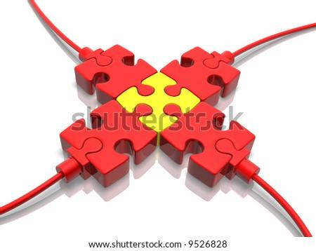 Plugs (3D concept) - stock photo