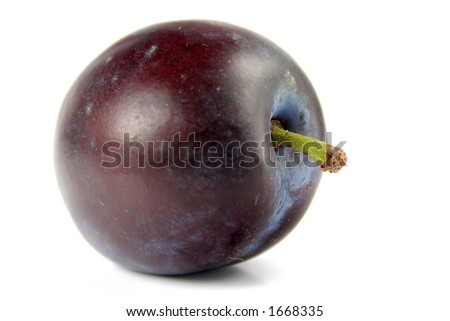 Plum isolated - stock photo