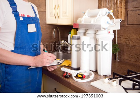 plumber change the water filter #197351003