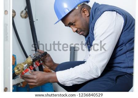 plumber during plumbing service