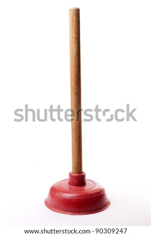 plunger isolated