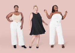 Plus size model clothing apparel mockup