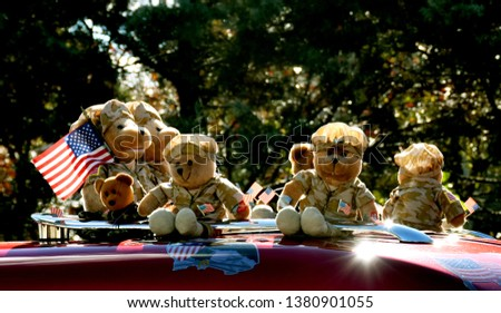 Plush toys during a parade