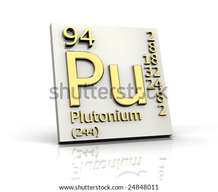 Images Of Plutonium. stock photo : Plutonium form