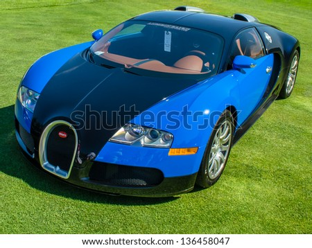 PLYMOUTH, MI/USA - JULY 27, 2102: A 2007 Bugatti Veyron on display at the Concours d'Elegance of America.