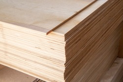 Plywood for construction.Finishing material. Building material.