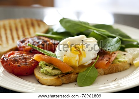 Toast With Sauteed Tomatoes, Spinach, And Poached Egg Recipes ...