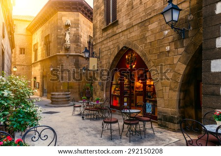 Photo of  Poble Espanyol - traditional architectures in Barcelona, Spain